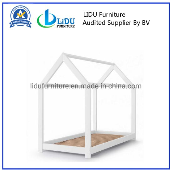 Kids Children Simple Toddler House Bed Wooden Children Easy Assemble House Bed with Cheap Price Wooden Bed