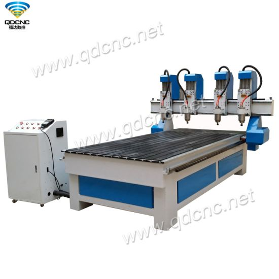 4 Heads Woodworking CNC Router Machine Mainly Used for Engraving and Cutting Qd-1325-4