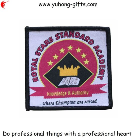 Custom School Embroidery Badge for Garment (YH-WB034) pictures & photos