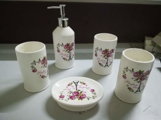 Bathroom Accessories Diamond Toothbrush Holder Soap Dispenser Square Dish Star Shell Ocean Cup