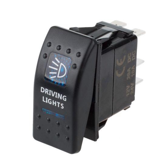 12V 24V Car Boat Caravan Rocker Switches Waterproof Rocker Switch Dual Blue  LED Light Bar 4X4