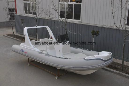 Liya 6.6m Hypalon Inflatable Rib Boats Steering Powerboats