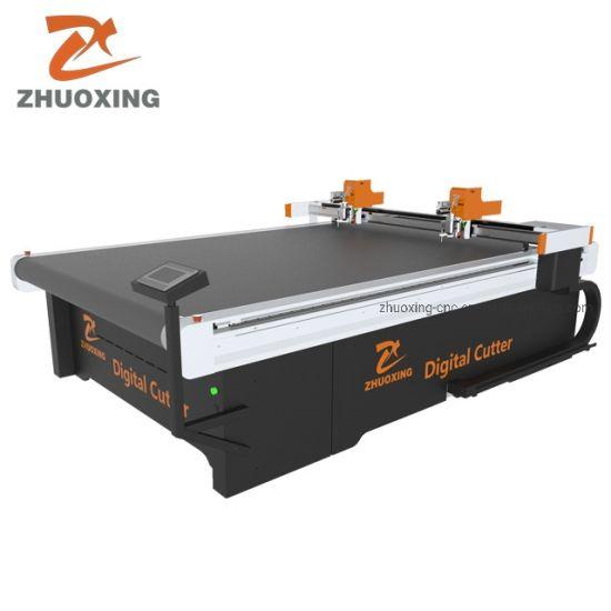 Zhuoxing Digital Cutter and CNC Knife Cutting Machine for Rubber Fiberglass Flet Rubber Foam