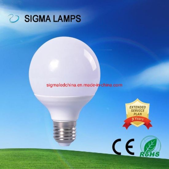 Sigma Sylvania Eco CE RoHS Energy Saving 110V 220V AC 3W 5W 7W 9W 12W 15W Globe Global G85 G100 G120 Foco Bola Power Saving LED Bulb with B22 E27