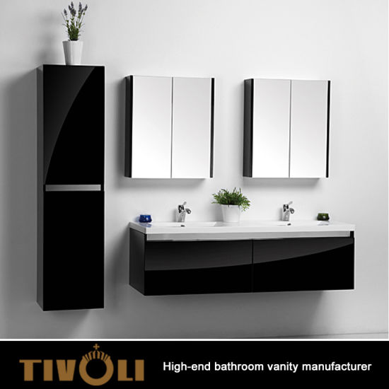 Wall Mounted Mdf Glossy Black Painting
