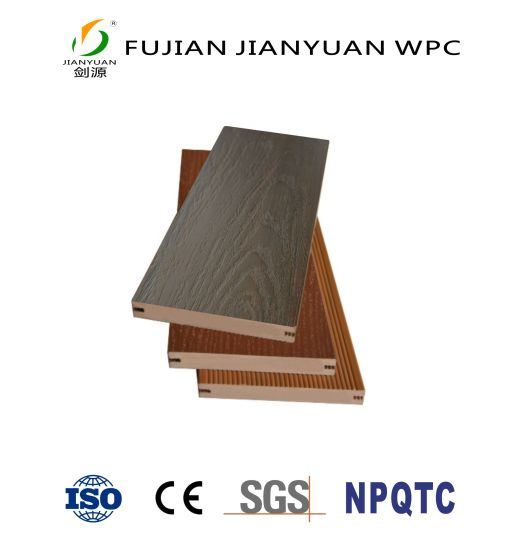 ASA-PVC Co-Extrusion WPC Solid Decking Board Vinyl Plastic Composite Flooring