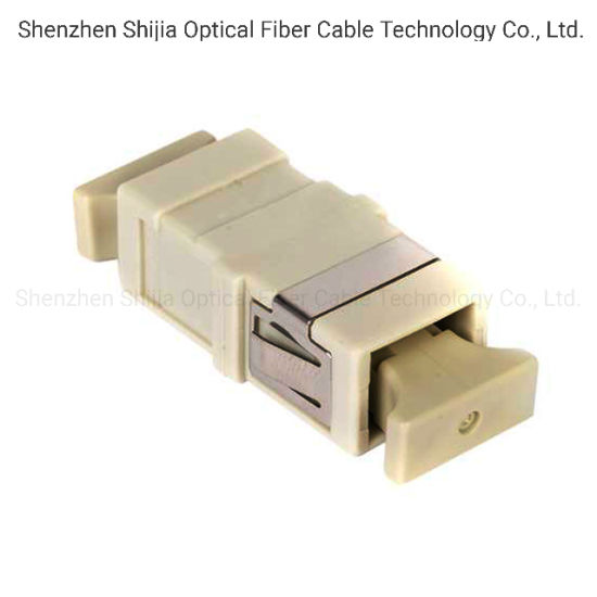 SC/PC Simplex Fiber Optical Adapter (beige) with Flange pictures & photos
