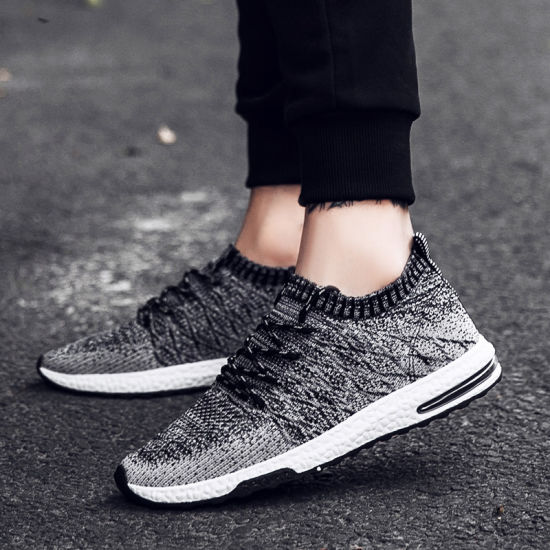 OEM Brand Lace-up Sport Shoes Men Casual Sneakers and Footwear