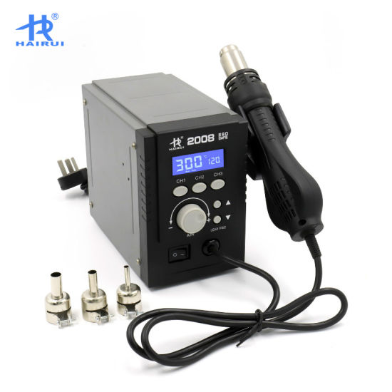 HAIRUI 2008 Hot Air Desoldering Digital Welding SMD Rework Soldering Machine