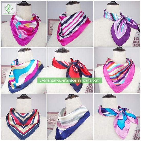 60*60cm Satin Silk Cravat Printed Fashion Gift Square Scarf
