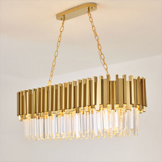 Post Modern Gold Luxury Dining Room Crystal Chandelier