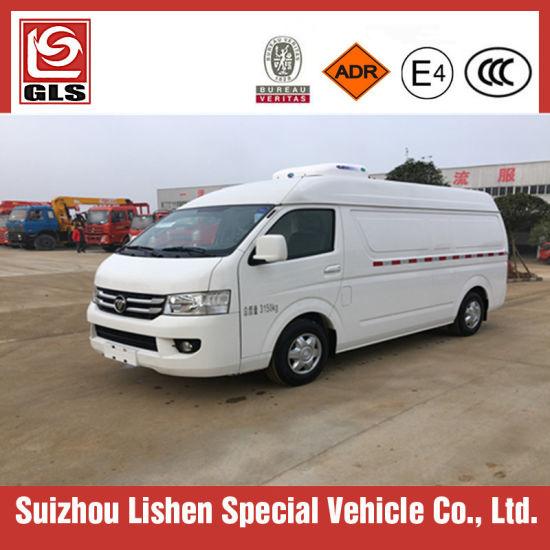Hot Selling Foton G7 4X2 Freezer Van Truck 3tons Small Refrigerator Car pictures & photos
