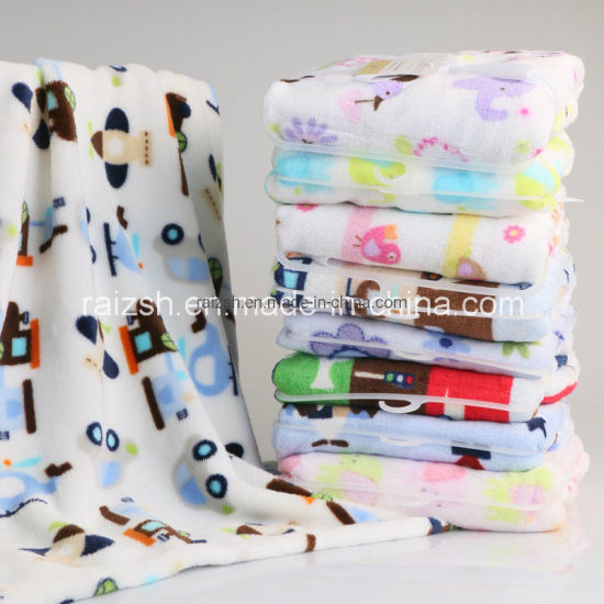 Newborn Baby Flannel Blanket Throw Air Conditioning Blanket Soft Warm
