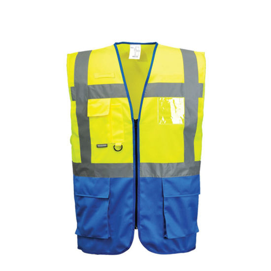 Traffic Safety Pockets Reflective Stripes Clothing Industrial Work Wear for Night Running