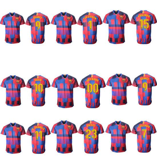 the latest 331ba ccd10 Wholesale 2019 Thailand Messi Soccer Jersey Barcelona Football Shirt