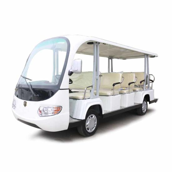 New Design 14 Seats Electric Car Tourist Car, Shuttle Bus, Electric Sightseeing Bus (DN-14G)
