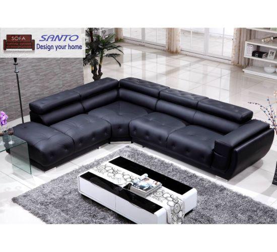 China 2019 Latest Design Sectional Leather Sofa Modern Corner Sofa ...