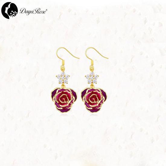 18a1fc11d193c8 China Petal Gold Rose Earring (fresh rose) - China Gold Earrings ...