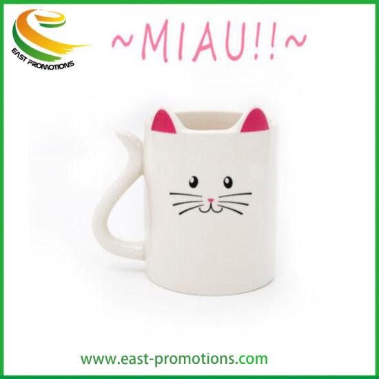 Custom 3D Cat Design Porcelain Ceramic Mug, Gift Mug for Giveaways