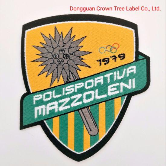 Team Woven Badges Laser Cut Designer Name Logo