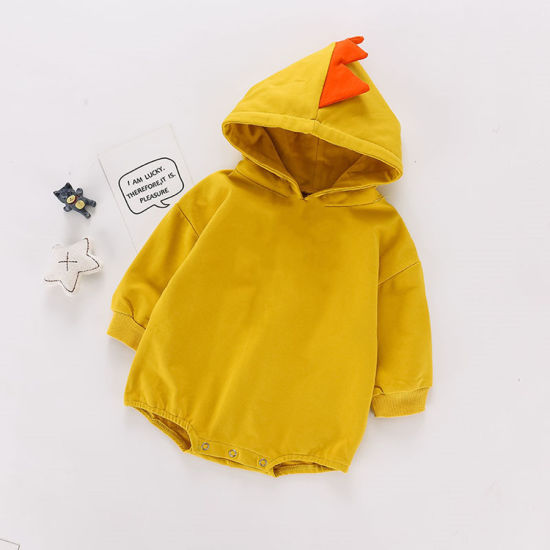 Bkd Hoodies Baby Clothing Cotton Solid Color Dinosaur Baby Bodysuit