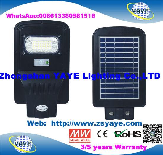 Yaye 18 Factory Price (USD10.8/PC) 20W Solar LED Street Light Lamp with 2 Years Warranty