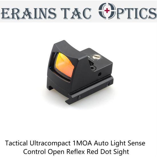 The Ultracompact Tactical 1moa Auto Light Sense Control Open Reflex Red DOT Sight