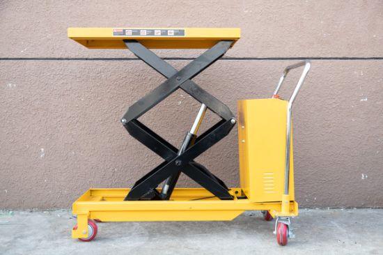 Moving Electric Scissor Lift Pallet Truck Forklift Platform