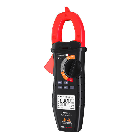 Ncv Function Clamp Multimeter with Resistance Tester AMP Ohm Meter Capacitance Auto Range AC Current Tester