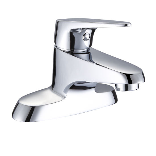 Deck Mounted Hot Cold Water Bathroom Basin Mixer Faucet Tap