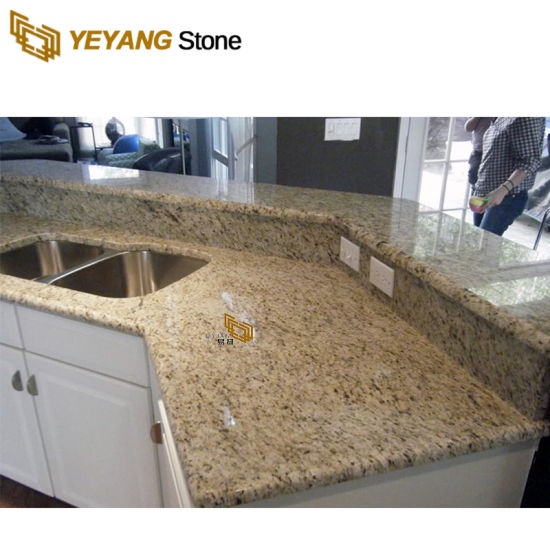 Polished Granite Stone Gold/Grey/Yellow/White Slab for Kitchen Countertop/Vanity