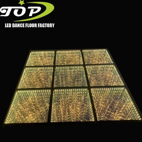 50X50cm LED Illuminate 3D Mirror LED Dancing Floor for Wedding Party Light
