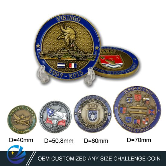 Factory Custom Chile Metal Art Crafts 3D Commemorative Coins Promotional Gift Souvenir Coins Army Navy Military Challenge Coins Collectors