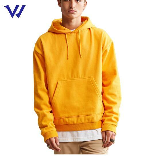 Custom Your Own Logo Men 50% Cotton 50% Polyester Blank Pullover Hoodie