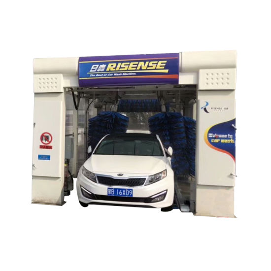 Qingdao Risense Tunnel Car Washing with 9 Brushes