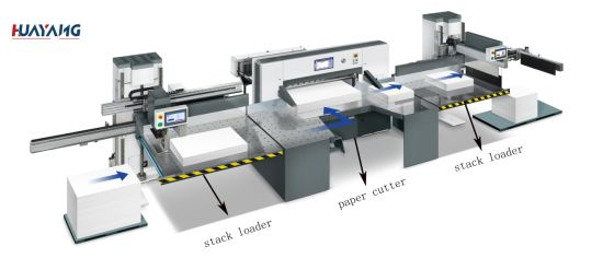 Stack Unloader for Paper Cutting Machine
