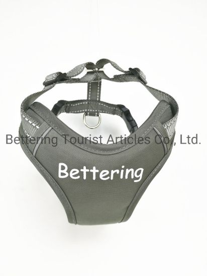 Polyester Logo Printing Reflective Chest Padded Dog Harness