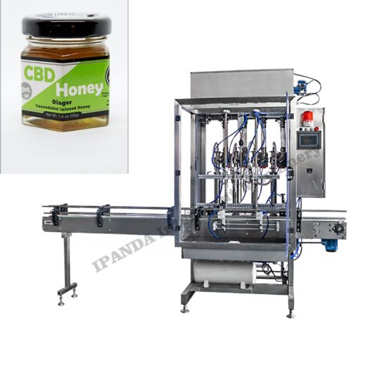 6 Nozzles Paste Filling Machine Chocolate Sauce Filling Capping Machine