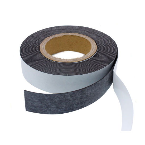 Neodymium Isotropic PVC Rubber Coated Magnet Strip Tape Roll Flexible Adhesive Rubber Magnet