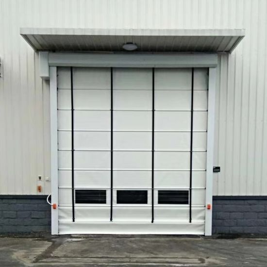 PVC Fabric Big Size High Speed Roll up Door for External Application