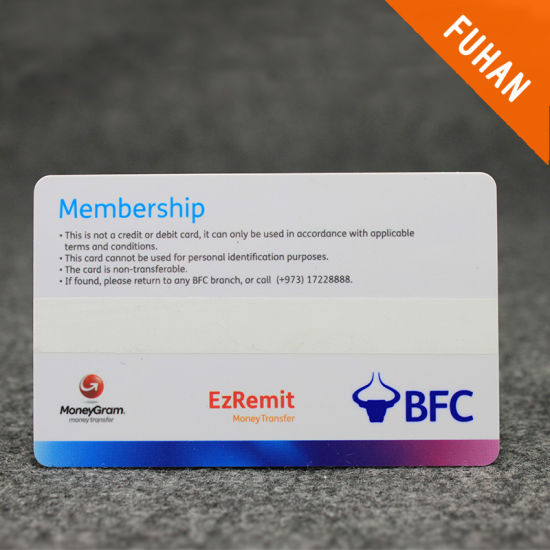 China Simple Design Rectangle Membership Card - China Member PVC ...