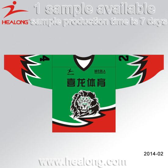 Healong Sublimation Customized Design V Neck Ice Hockey Jersey Wear