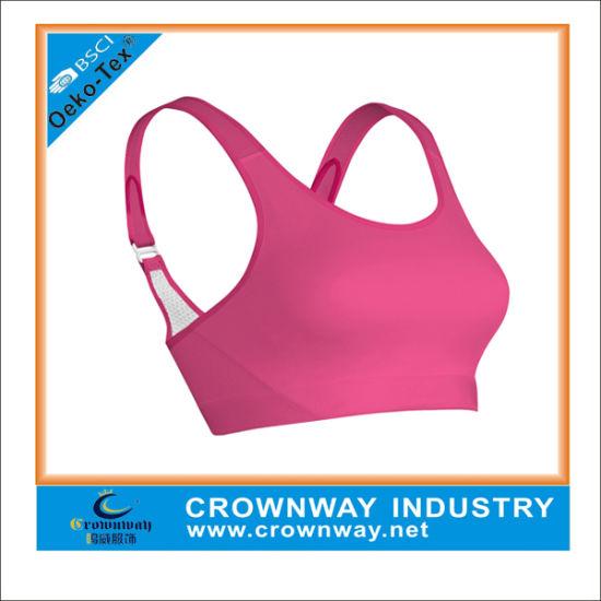 9ed8121c57 China Custom Women Polyester Spandex Sexy Sports Yoga Bra   Genie ...