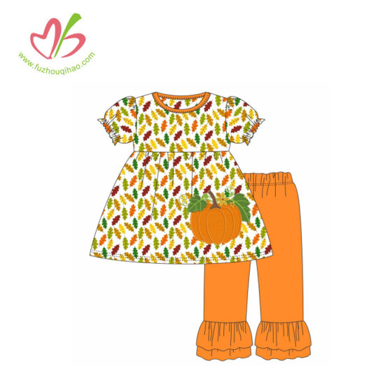 Festival Clothing for Children Printing Applique Baby Girl Outfits