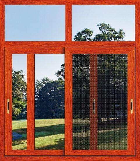 European Style Aluminum Horizontal Sliding Window with Wire Mesh