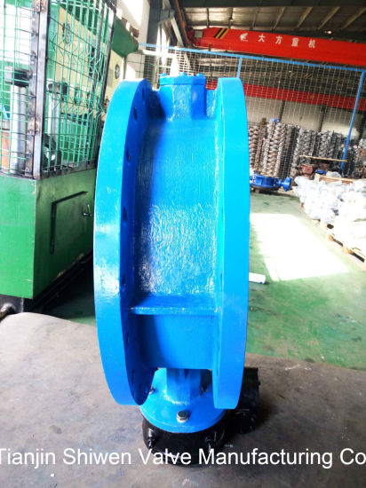 ANSI 150lb Cast Steel Flange Butterfly Valve with Gear pictures & photos
