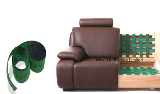 Green Colour High Quality Sofa Webbing With Three Lines