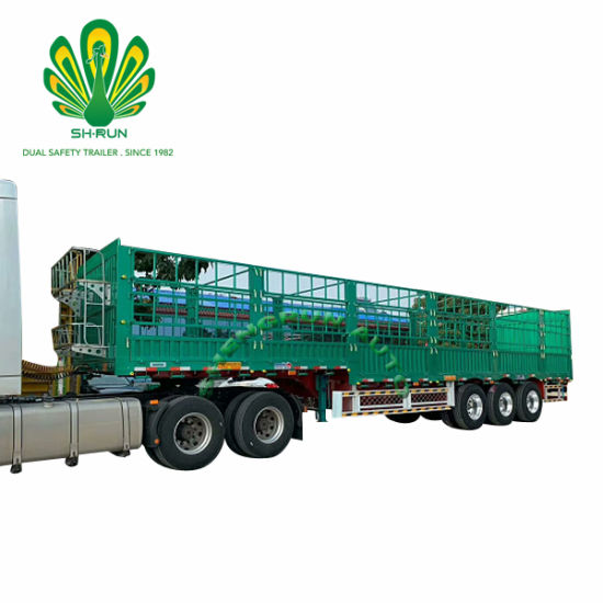 Tri-Axle Fence Stake Cargo Semi Trailer for Food Livestock Transport