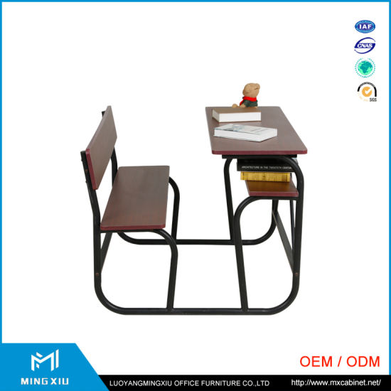 China Mingxiu High Quality College Classroom Desk and Chair / School Desk and Chair pictures & photos