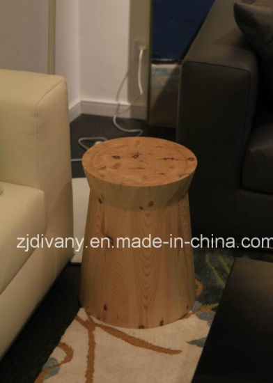 European Modern Style Solid Wood Tea Table Wooden Round Side Table (T 77)